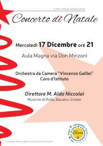 Locandina concerto 17 dicembre ore 21 via don Minzoni