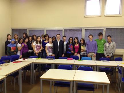 i nostri studenti con il prof. Boffi