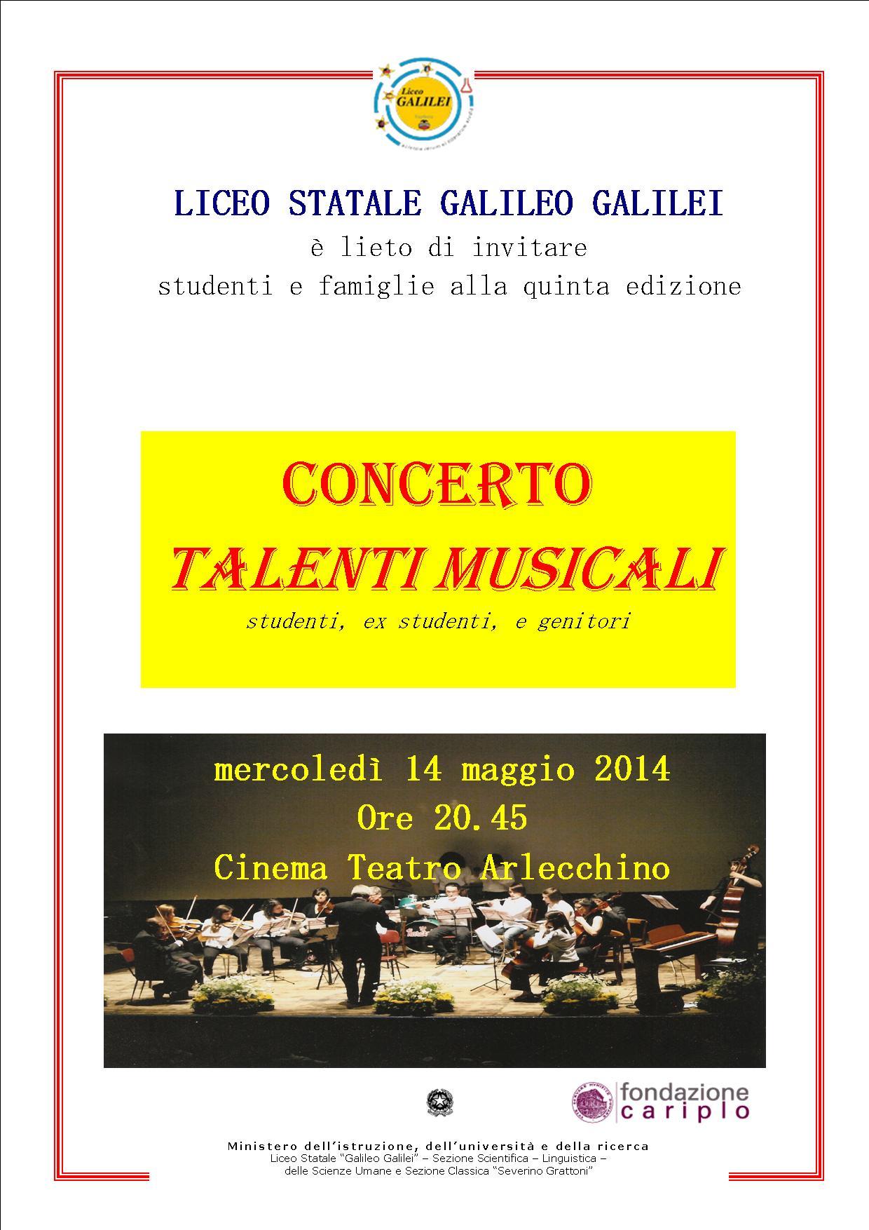 Locandina concerto talenti musicali