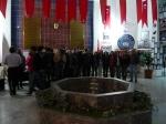 Cappadocia, Accoglienza  nell'atrio del Liceo Altinyildiz (domenica 22 aprile 2012)