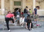 Cappadocia 2012, il gruppo all'uscita della Moschea di Nevsehir