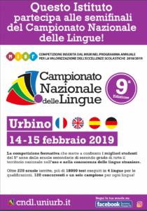 locandina campionato nazionale delle lingue