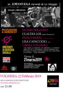 locandina evento con Libera