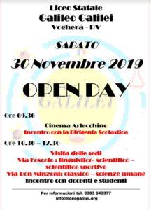 locandina open day 30 11 2019